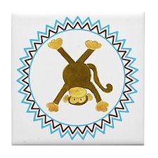 Tumbling Monkey Upside Down Zig Zag Tile Coaster