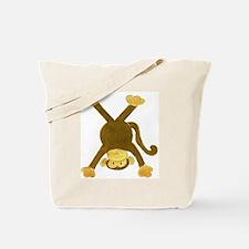 Tumbling Monkey Upside Down Tote Bag