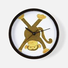 Tumbling Monkey Upside Down Wall Clock