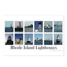 Rhode Island Lighthouses Postcards (Package of 8)