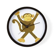 Tumbling Monkey Wall Clock