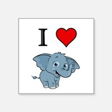 "Elephant Square Sticker 3"" x 3"""