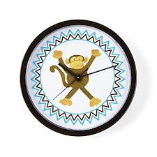 Tumbling Monkey Zig Zag Wall Clock