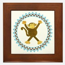 Tumbling Monkey Zig Zag Framed Tile