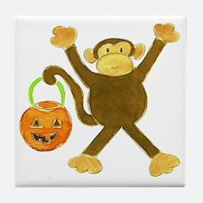 Halloween Tumbling Monkey Tile Coaster