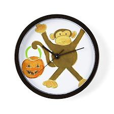 Halloween Tumbling Monkey Wall Clock