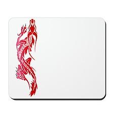 Red Climbing Dragon Mousepad