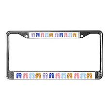 Flip-Flop License Plate Frame