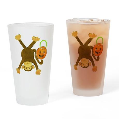 Halloween Tumbling Monkey Upside Do Drinking Glass