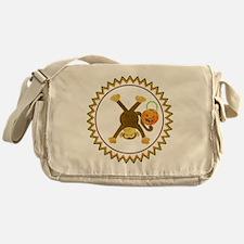 Halloween Tumbling Monkey Upside Dow Messenger Bag
