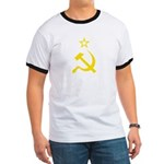 Yellow Hammer Sickle Star Ringer T