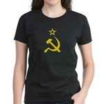 Yellow Hammer Sickle Star Women's Dark T-Shirt