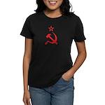 Red Hammer Sickle Star Women's Dark T-Shirt