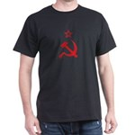Red Hammer Sickle Star Dark T-Shirt