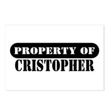 Property of Cristopher Postcards (Package of 8)