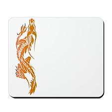 Orange Climbing Dragon Mousepad