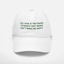 Money and Happiness Baseball Baseball Cap