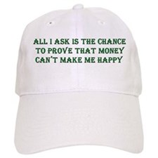 Money and Happiness Baseball Cap