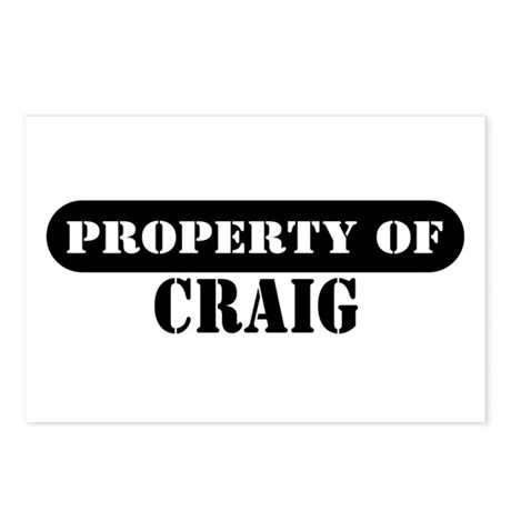 Property of Craig Postcards (Package of 8)