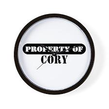 Property of Cory Wall Clock