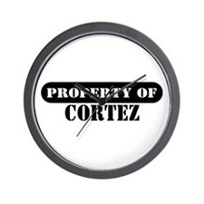 Property of Cortez Wall Clock