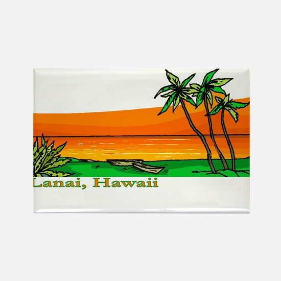 Cute Lanai Rectangle Magnet