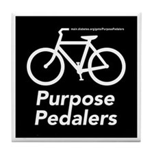 Purpose Pedalers Tile Coaster