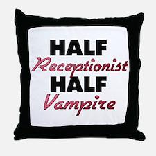 Half Receptionist Half Vampire Throw Pillow