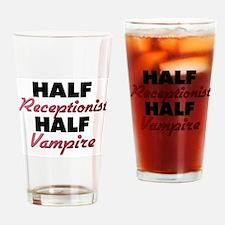 Half Receptionist Half Vampire Drinking Glass