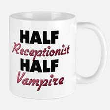 Half Receptionist Half Vampire Mugs