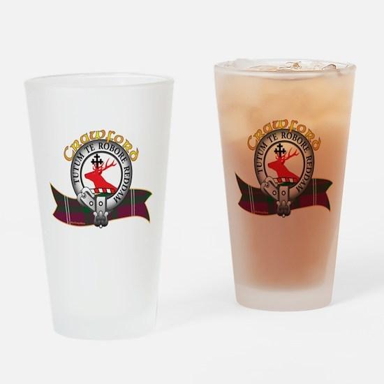 Crawford Clan Drinking Glass