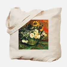 Van Gogh - Still Life with Roses and Sunf Tote Bag