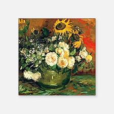"Van Gogh - Still Life with  Square Sticker 3"" x 3"""