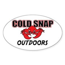 Cold Snap Outdoors Oval Decal
