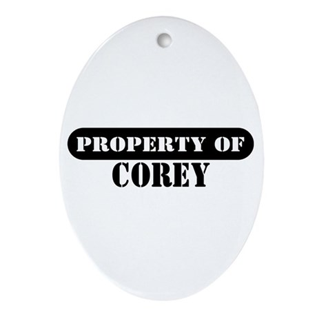 Property of Corey Oval Ornament