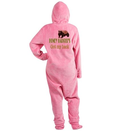 Honey Badger's Got My Back Footed Pajamas