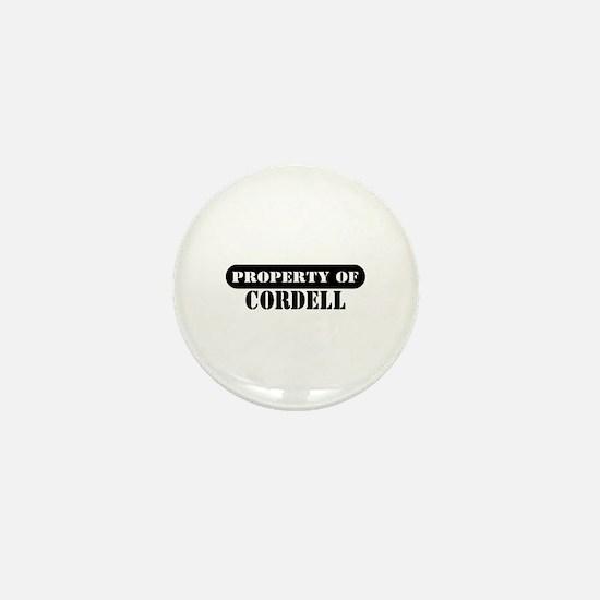 Property of Cordell Mini Button