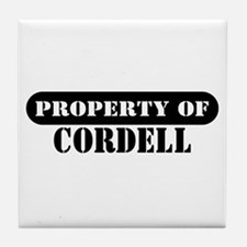 Property of Cordell Tile Coaster