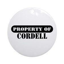 Property of Cordell Ornament (Round)