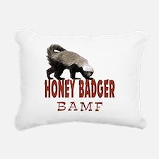 Honey Badger BAMF Rectangular Canvas Pillow
