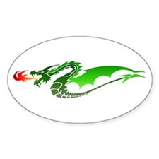 Green Dragon Oval Decal