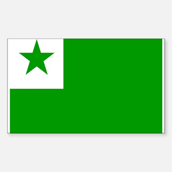 Esperanto Rectangle Decal