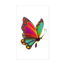 Rainbow Butterfly Rectangle Decal