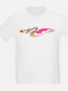 Pink Dragon Kids T-Shirt