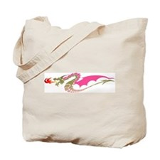 Pink Dragon Tote Bag