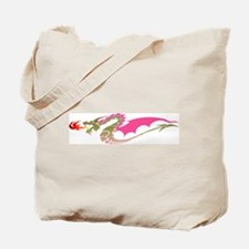 Pink Dragon Tote Bag