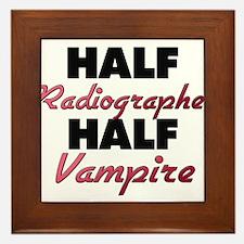 Half Radiographer Half Vampire Framed Tile