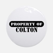 Property of Colton Ornament (Round)