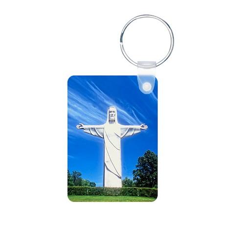 Christ of the Ozarks Aluminum Photo Keychain
