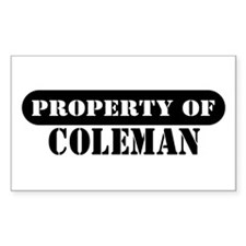 Property of Coleman Rectangle Decal